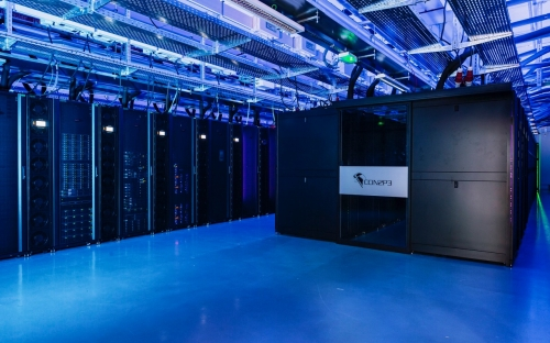 Servers already installed in the new computer room. Photo/article credit: CCIN2P3